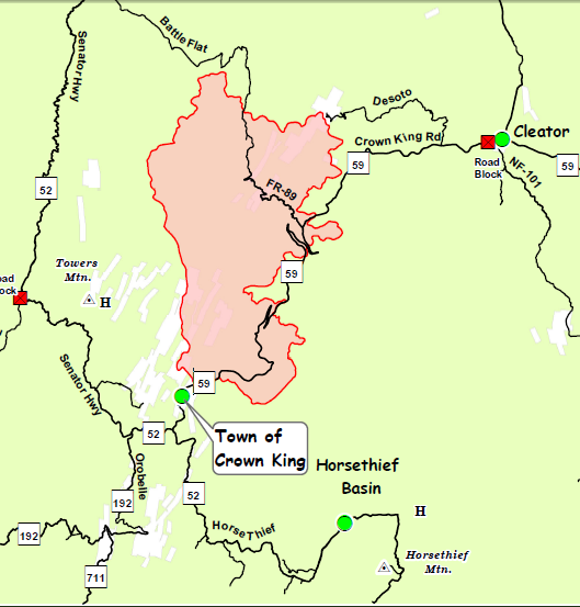 Map Of Crown King Arizona.Crown King Gladiator Fire Day 6 Update 1 Crown King Az Far