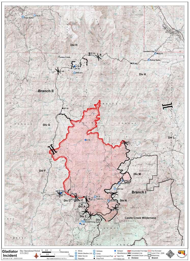 5-21-12 Gladiator Fire Boundary Map